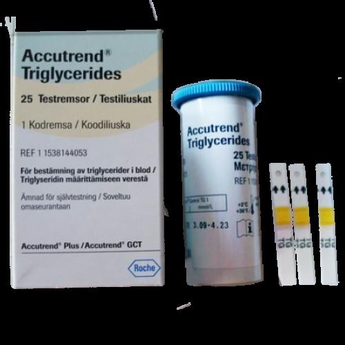 Accutrend Triglyceride  tesztcsík 25x
